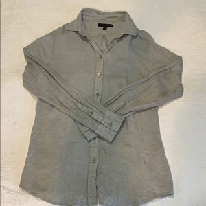 Grey collared button up